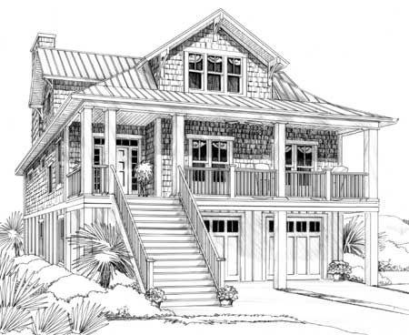 Plan 15035nc Narrow Lot Beach House Plan