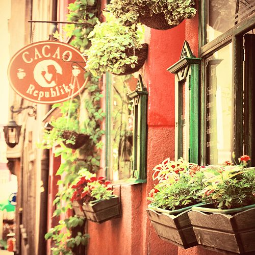 Cacao Republica on street Zamkowa 7 in Poznan, Poland - best place to drink hot chocolate  by magnesina.deviantart.com on @deviantART