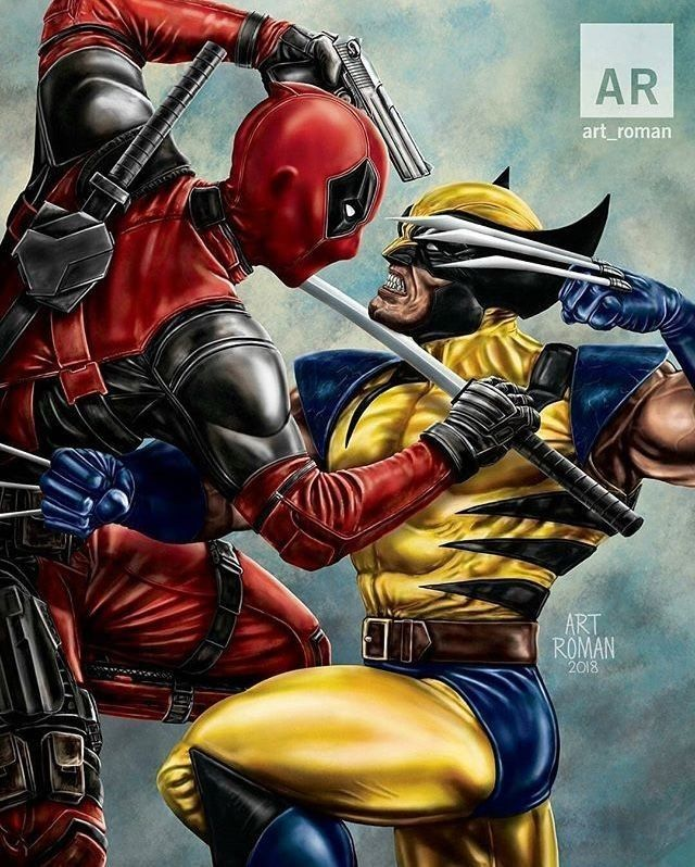 check out this awesome deadpool vs wolverine this is