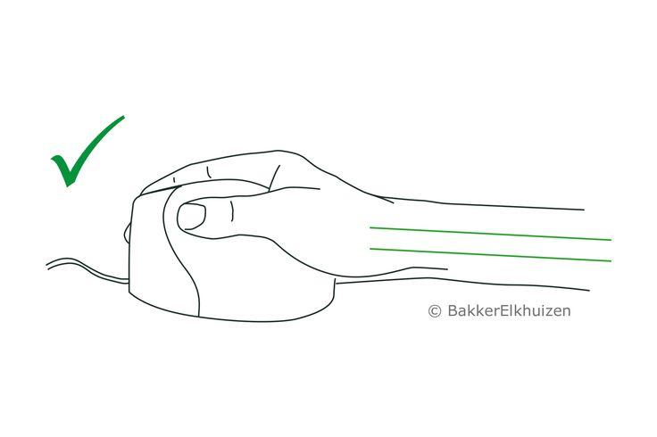 """Souris verticale ergonomique """"Grip Mouse """", bonne posture, Bakker Elkhuizen, Boutique ergonomique, le spécialiste du siège ergonomique"""