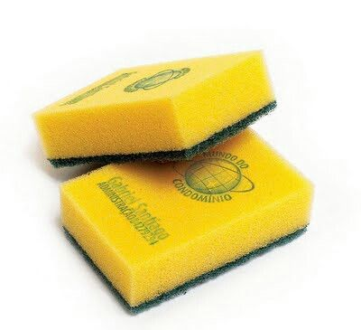 Business card on a sponge for a cleaning service. DIY with ink stamps?