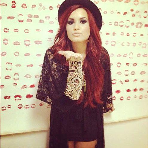 Demi Lovato, digging the red.