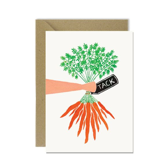 Swedish thank you card - Tack carrot  by amylindroos.com on Etsy