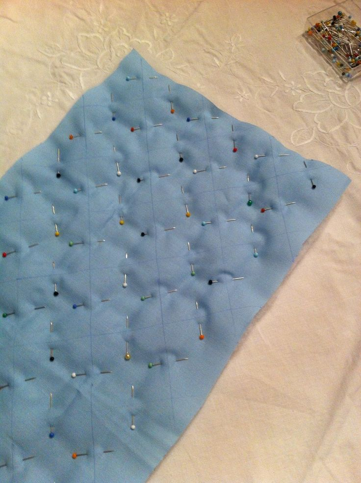 Tutoriel : Apprendre à molletonner / matelasser du tissu                                                                                                                                                                                 Plus