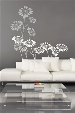 MICHAEL CAN YOU PAINT WHITE FLOWERS ON MY WALL? In love w these T :)