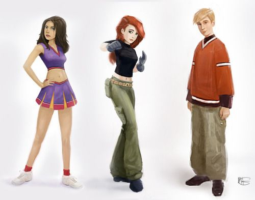 Bonnie Rockwaller, Kim Possible, and Ron Stoppable