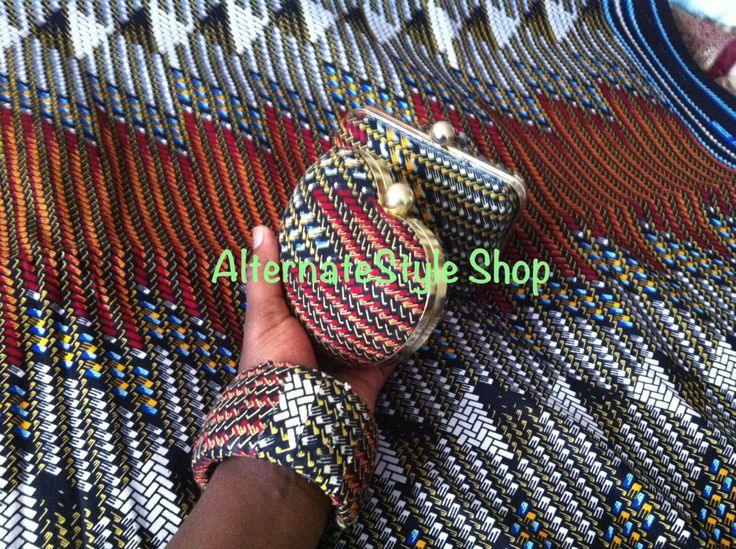 Ankara Brown Aztec Pattern Fabric // Brown African Print Aztec Print