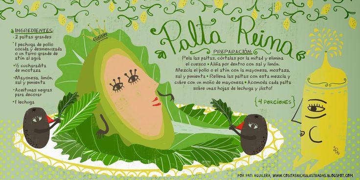 PALTA REINA RECIPE #Infographic #Chile #Spanish #Food