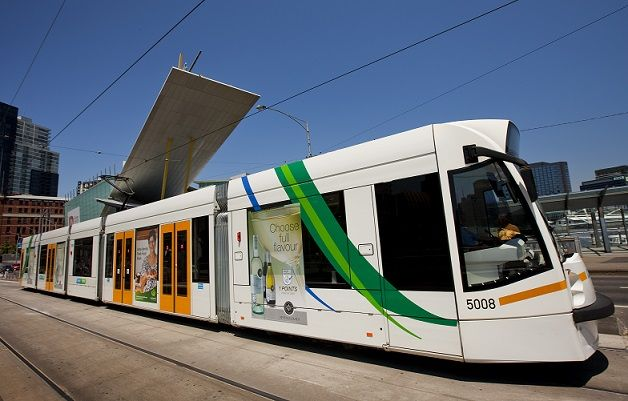 A Melbourne tram. Melbourne has the largest light rail network in the world with 250km of track!