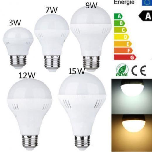 Led E27 3w 7w 9w 12w 15w Emergency Light Bulb Rechargeable Intelligent Lamps