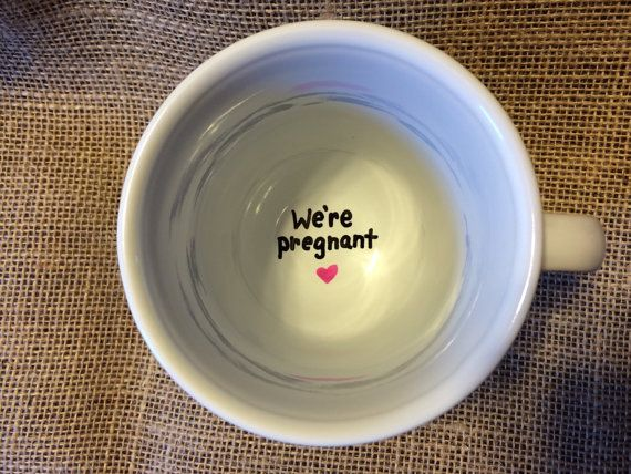 I wish I saw these when we announced our pregnancy! Saving this for next time!! WE'RE PREGNANT surprise mug/pregnancy announcement/new by ByTracey
