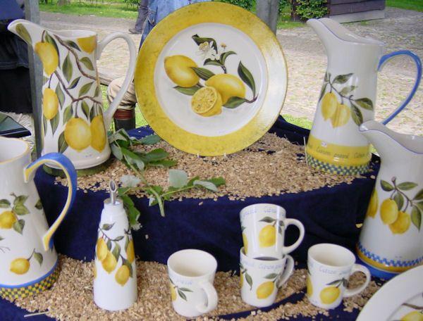 Anneke Nijmeijer - handbeschilderd serviesgoed - citroen