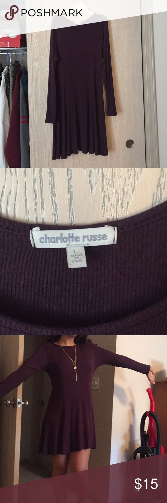 charlotte russe dress PLUM DRESS WORN ONCE FOR A DANCE -- PERECT CONDITION Charlotte Russe Dresses Mini