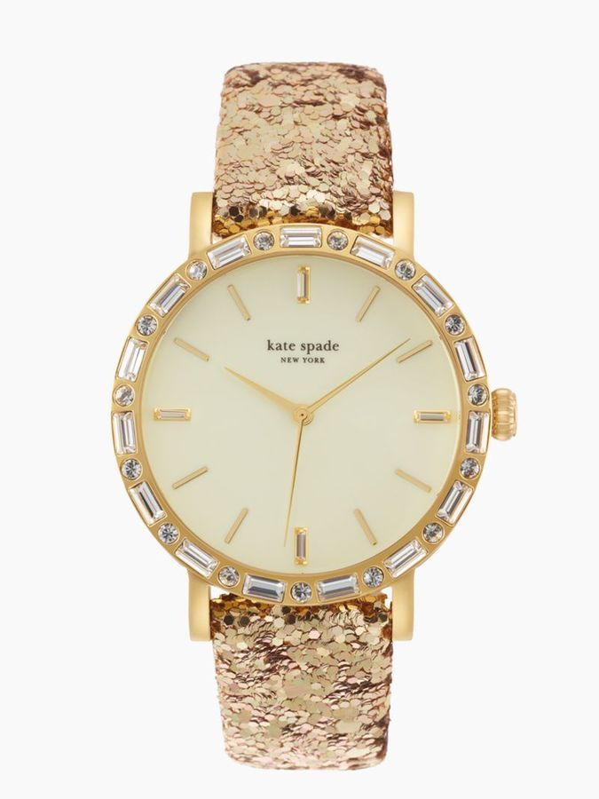 OMG a watch with a glitter strap. Thank you kate spade!!!
