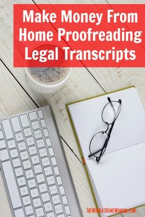 Find out how you can make up to $60 an hour proofreading legal transcripts in this interview with Caitlin Pyle. via The Work at Home Woman