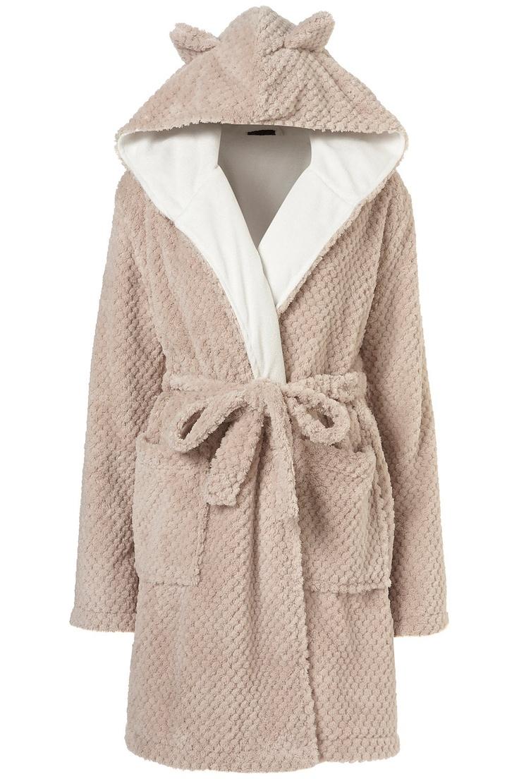 bathrobe with teddy bear ears. Yes please!!!!