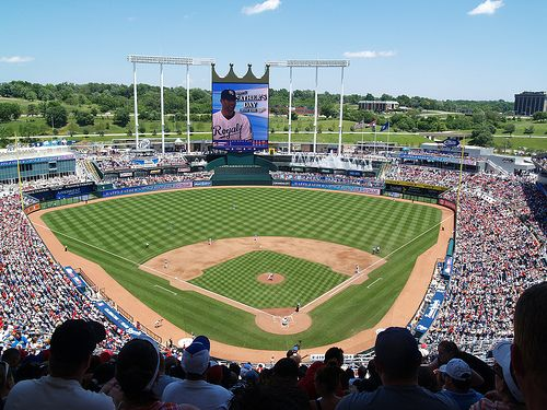Kauffman Stadium in Kansas City, Missouri. Been there plenty of times before, but definitely want to go again. Best MLB park.