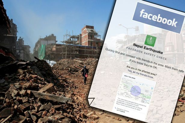 Facebook Safety Check for those who affected by earthquake in Nepal