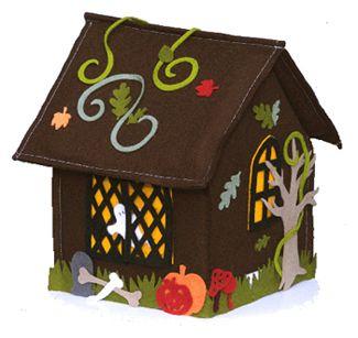 Halloween felt house