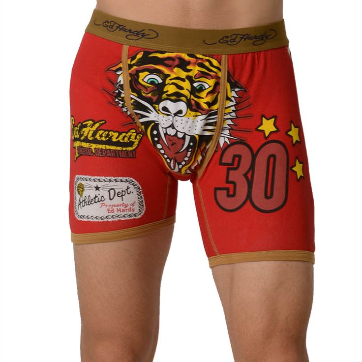 Ed Hardy Men's Tiger Vintage Boxer Brief – Tan