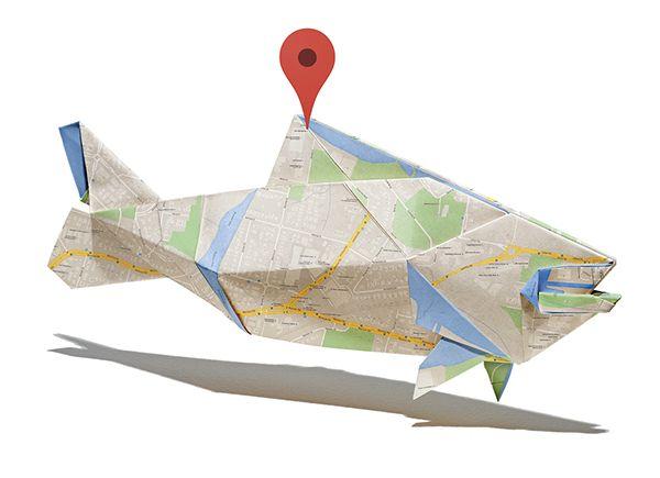 Googleマップを使った「折り紙」   AdGang