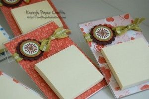 Sticky note holder made from an acrylic photo frame, This is what I am making for teacher gifts this year! by janie
