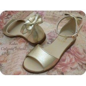 Sandalias niña chica dorada Landos - calzado infantil juvenil
