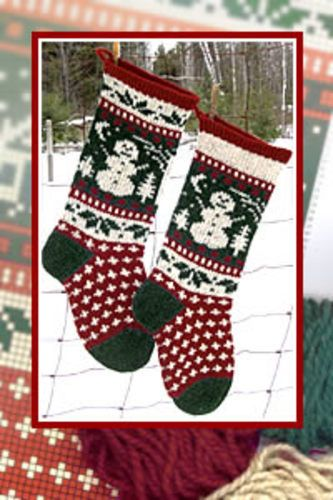 ravelry snowman christmas stocking pattern by annieu0027s woolens
