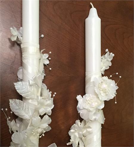 Greek Candles Religious Lambathes or Lambades Candles (Lambatha / Lambada)