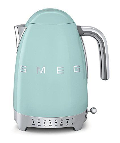 Smeg KLF02PGUS 50's Retro Style Variable Temperature Kettle, Pastel Green - Midcentury Modern Kitchen Appliances