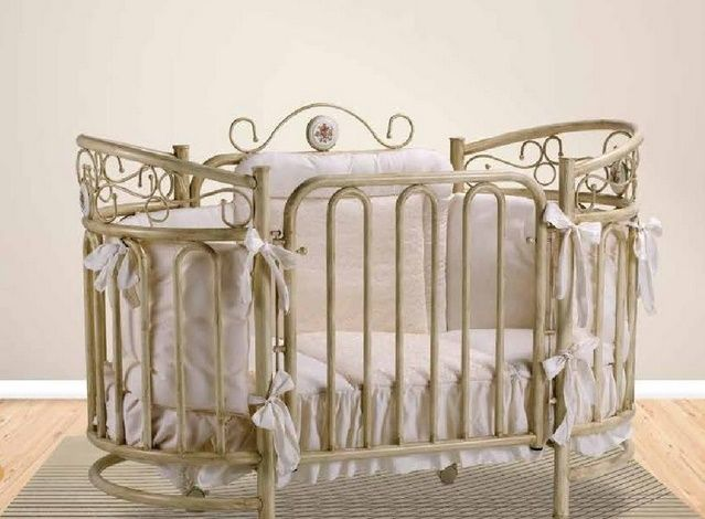 Contessa Oval Cot Designer Round Cot Luxury Antique