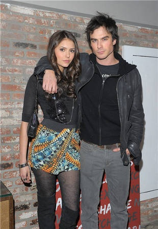 Ian Somerhalder and Nina Dobrev:  On screen (The Vampire Diaries) ? but definitely off screen