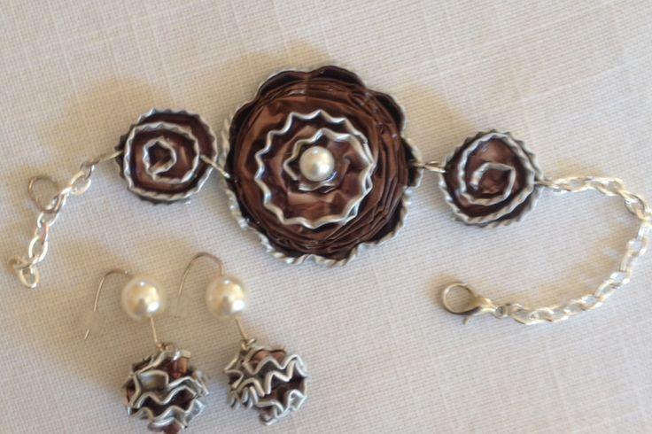 Nespresso Art - Bracelet and Ear Rings