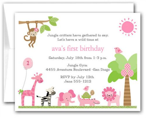 dc8cb857e749b10c1abae3b25e994674 jungle party safari party 35 best baby invitation n scrapbook images on pinterest,What To Say On Birthday Invitation