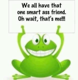 smart ass frog