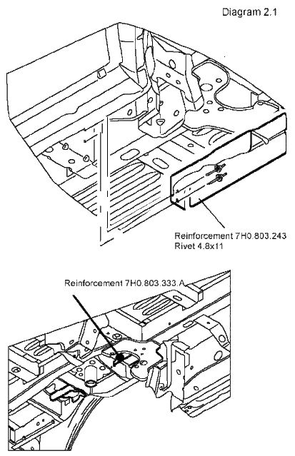 Diagram For Installing And Removing Seat To A Vw Van Bus Fitting