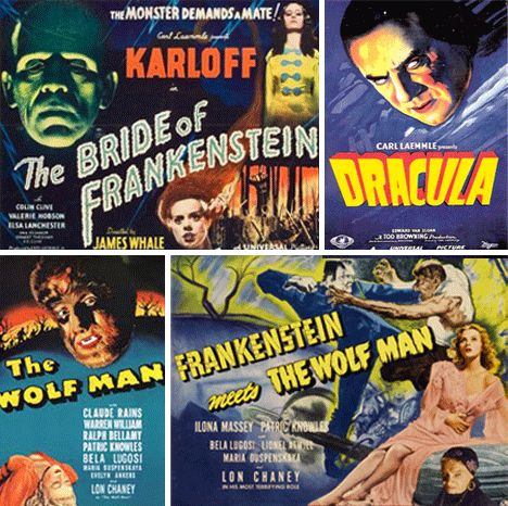 I love the old black-and-white Universal monster movies. When I was a kid they always had this stuff all over for Halloween. Miss it.