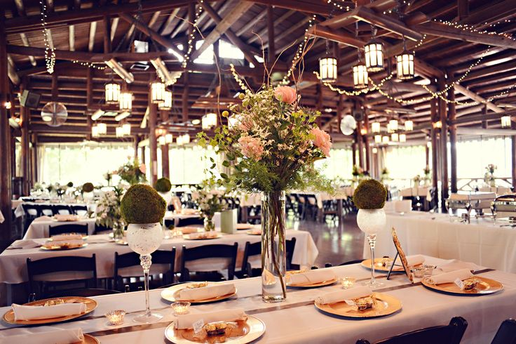 rustic wedding reception at hoover park 39 s beautiful barn