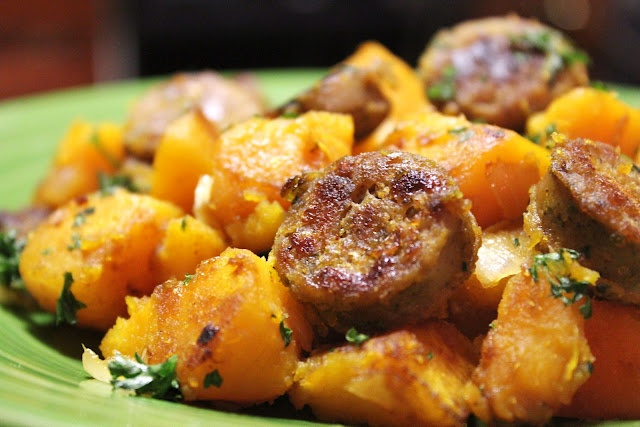 Butternut and sausage heaven.   Recipes   Pinterest   Sausages ...