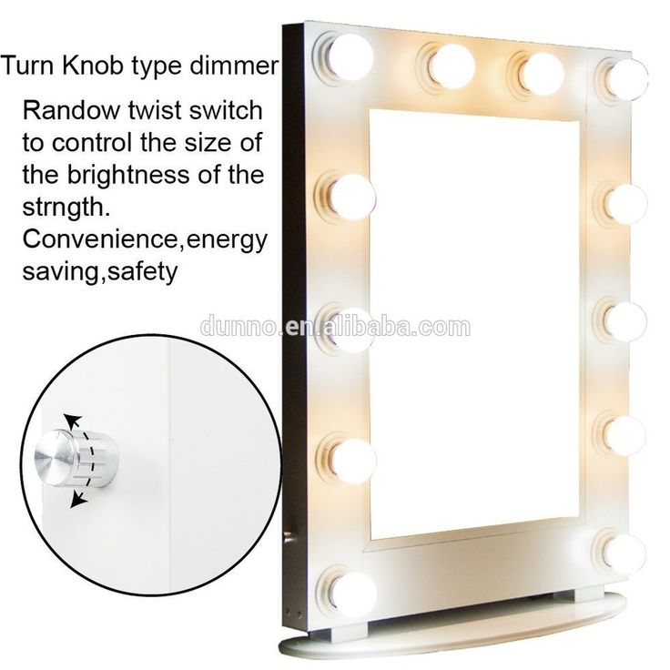 Hollywood Lighted Vanity Mirror with LED Lights for Makeup Dressing Table Set Plug in Illuminated Cosmetic Mirror