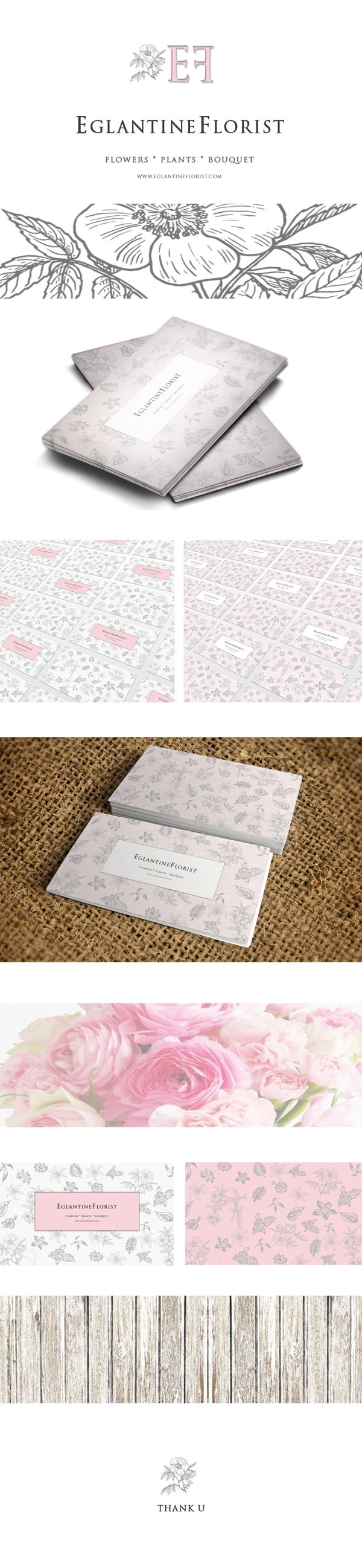 Eglantine Florist business card on Behance