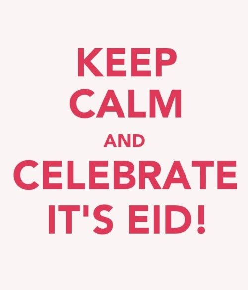 Eid Mubarak to anyone who celebrates it! :)