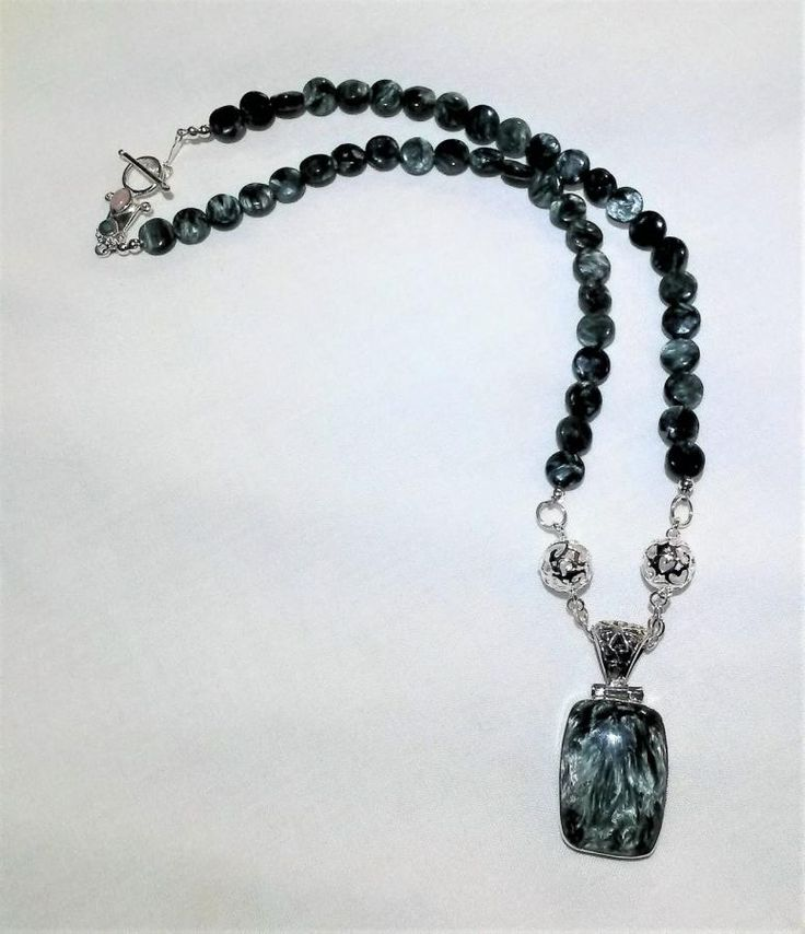 Seraphinite Sterling Silver Necklace by BDBD Bead Designs by Debbie