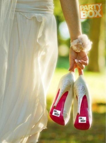 Naklejka na buty. Zabawny gadżet na ślub, żeby przypadkiem nie było wątpliwości ;)