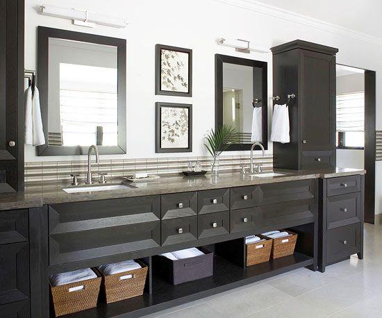 Bathroom vanity solutions towels vanities and cabinets - Bathroom vanity storage solutions ...