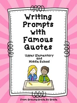 writing prompts with famous quotes writing prompts