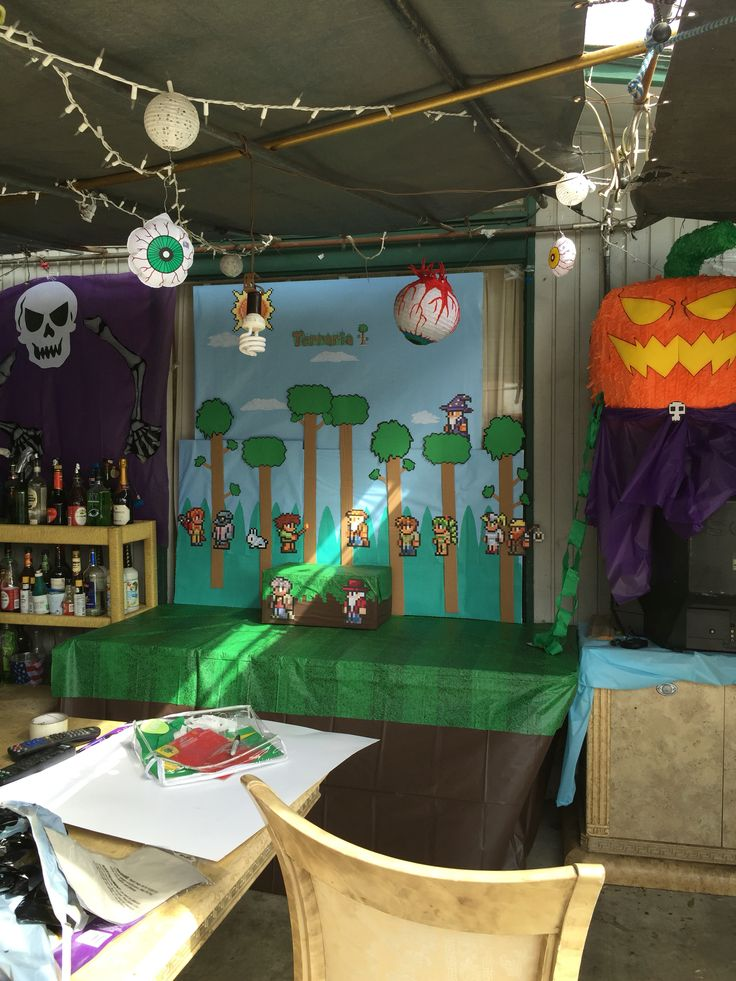 10 Images About My Diy Terraria Birthday Party On