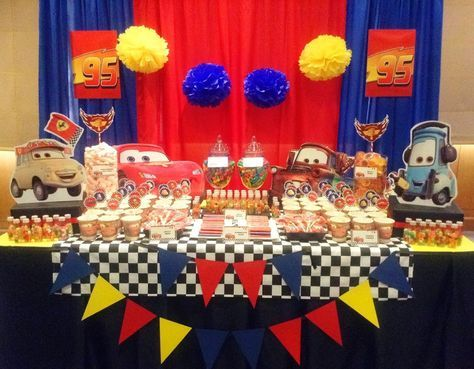 Floyd Cedric's Disney Cars 7th Birthday Party!Venue: City Garden Hotel, Makati CityThis was our 4th Disney Cars themed dessert and candy buffet set-up in 2013.Proven still well-loved by kids ...