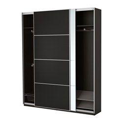 IKEA - PAX, Roupeiro, dispositivo de fecho suave, , Inclui 10 anos de garantia. Saiba mais sobre as condições da garantia no respetivo folheto.Pode facilmente adaptar esta combinação já feita PAX/KOMPLEMENT, usando o planificador online PAX, para que se adeque às suas necessidades e gostos.Estrutura com pouca profundidade; ideal para espaços limitados.Com portas deslizantes terá mais espaço para os móveis, pois estas não necessitam de espaço para abrir.Permite que a porta feche devagar, de…