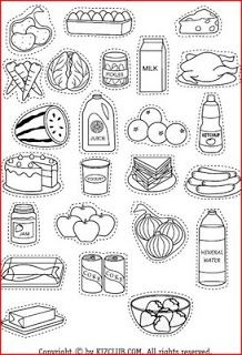 Healthy Foods For Kids Coloring Pages 1000+ ideas sobre Alim...